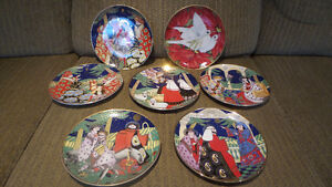 Collectible Franklin Mint Christmas Plates