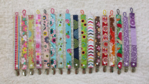 Girl pacifier clips