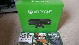 Xbox One. 500gb with 3 games.