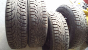 4/ WINTER TIRES & STEEL RIMS TOYOTA TERCEL