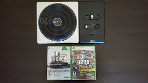DJ Hero 1 and 2 with turntable