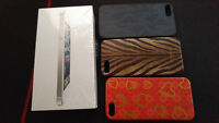 Iphone 5 MINT condition plus 3 cases designer cases