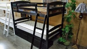 Bunk beds galore, many models in stock (NEW IN BOXES) from