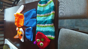 3 knitted baby outfits