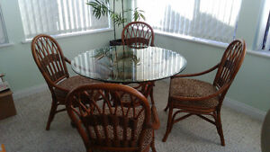 Gorgeous 'Ratana' Dinette with 4 chairs