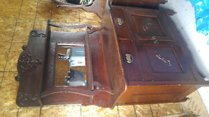 Solid wood antique hutch
