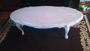 Chalk painted Oval coffee table