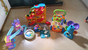Baby monitor + misc toys