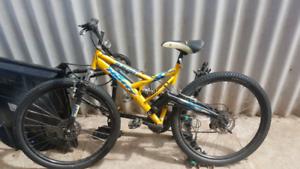 Mountain bike yellow