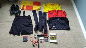Men's soccer referee kit w/ flags pump shorts watch whistle Regina Regina Area image 1