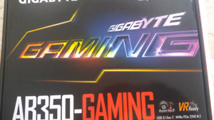 Gigabyte AB350-Gaming. AM4 Ryzen compatible.