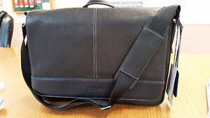 NEW Kenneth Cole Laptop / Messenger Bag - Leather
