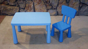 Ikea Mammo children's table and chair