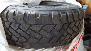 Winter tires with rims (low miles)