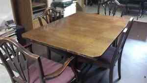 Vintage Dining Room table and chairs.