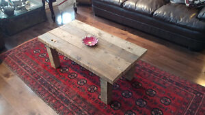 Reclaimed and salvaged solid barn wood coffee table Kitchener / Waterloo Kitchener Area image 2