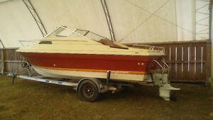 REDUCED!!! 21' Bayliner Santiago PROJECT With ALUMINUM TRAILER!
