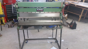 "King 40"" 3-in-1  brake shear and roll."