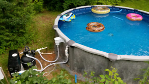 Piscine hors terre / above ground pool 18 pd/ft