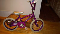 Vélo pour fille 16 pouces (3 à 6 ans)