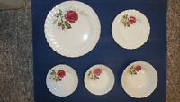 NEVER USED -- Antique Myott Anniversary Rose China COMPLETE Set