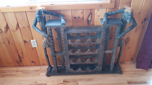 Large Tribal themed wine rack