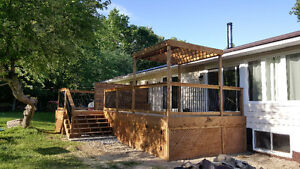 Deck and Wood Features - Free Quotes - One Stop Home Solutions Kawartha Lakes Peterborough Area image 2
