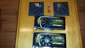 A PAIR OF EVGA GEFORCE GTX 560TI FOR SALE