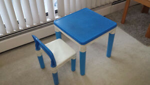 Kid's study table and chair - 20$..Moving Sale