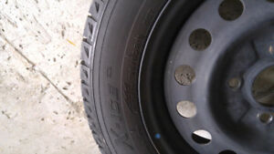 Steel Rims 4x114.3 and Michelin X Ice 195 60 15 Tires