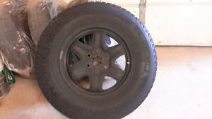Winter tires & rims- Michelin xi2 on rims and TPM, GMC, CHEVY Kitchener / Waterloo Kitchener Area image 1