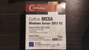 MCSA Windows Serveur en FR : 3 livres NEUFS et 3 examens, NÉGO