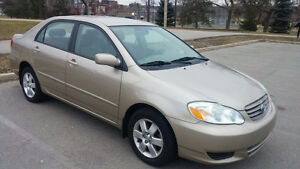 2004 Toyota Corolla le Sedan in good condition ONLY166,085KM