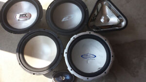 6 Assorted Speakers For Sale
