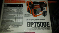 portable generac 7500 watt genorator for sale
