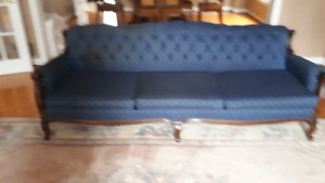 Carved and Tufted Victorian Love Seat