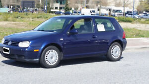 2002 Blue VW Golf Hatchback 2-Door Automatic