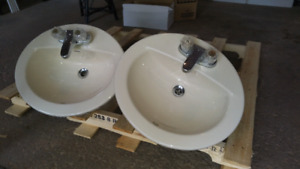 Two sinks with tapes