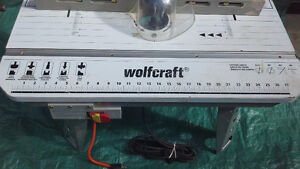 WOLFCRAFT router table with MAXIMUM ROUTER like new