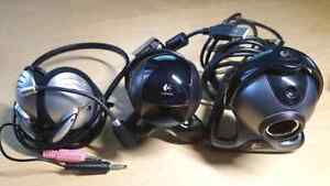 Two Logitech Camera Webcam and new Logitech headset with mic