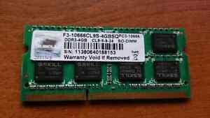 G.SKILL 4GB DDR3 LAPTOP MEMORY
