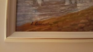 Gorgeous original oil on board painting River scene / Fishermen West Island Greater Montréal image 4