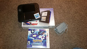 ---_2DS BLUE N SAPPHIRE MINT NO DAMAGE_---