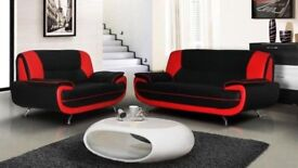 CAROL CORNER SOFA OR 3+2 * AVAILABLE IN BLACK AND RED OR GREY AND WHITE & BLACK AND WHITE