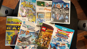 Various WII and WIIU games