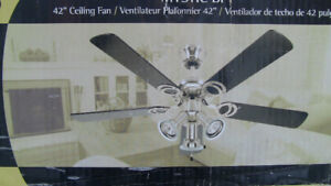 "* * NEW * * 42"" Ceiling Fan / Light"