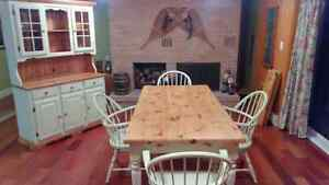 Country Harvest Dining Table, Chairs, Buffet and Hutch