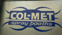 REDUCED --  COLMET PAINT BOOTH