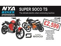 SUPER SOCO TS - - - BRAND NEW - - - ELECTRIC 50cc EQUIVALENT
