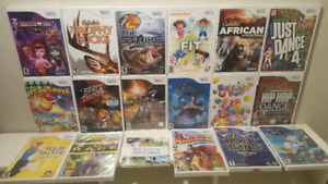 Brand New Factory Sealed Nintendo Wii Games